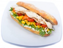 Chicken and rocket baguette
