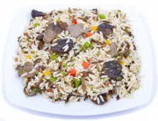 Wild rice with forest mushrooms