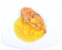 Grillezett csirkemell narancshúsos öntettel