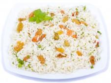 Jasmine rice with mint and raisins