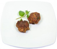 Veal meat balls with mint