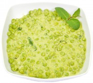 Pea sauce with mint
