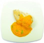 Zöldségszószos grillezett csirkemell
