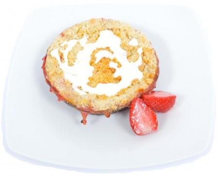 Epres-rebarbarás crumble cake