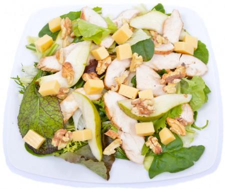 Körtés, diós eidami sajtos saláta grillezett csirkemellel