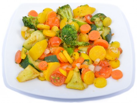 Kakukkfüves párolt zöldségek